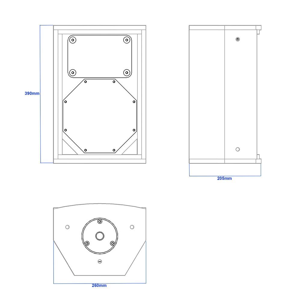 Apt TCH08 Multipurpose 8″ cabinet - 390, 205, 260mm