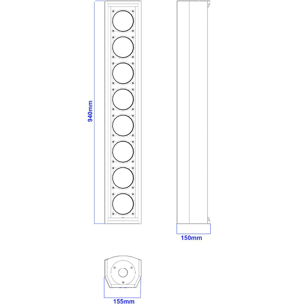Apt CL8.4 Column array speakers - 940, 150, 155mm