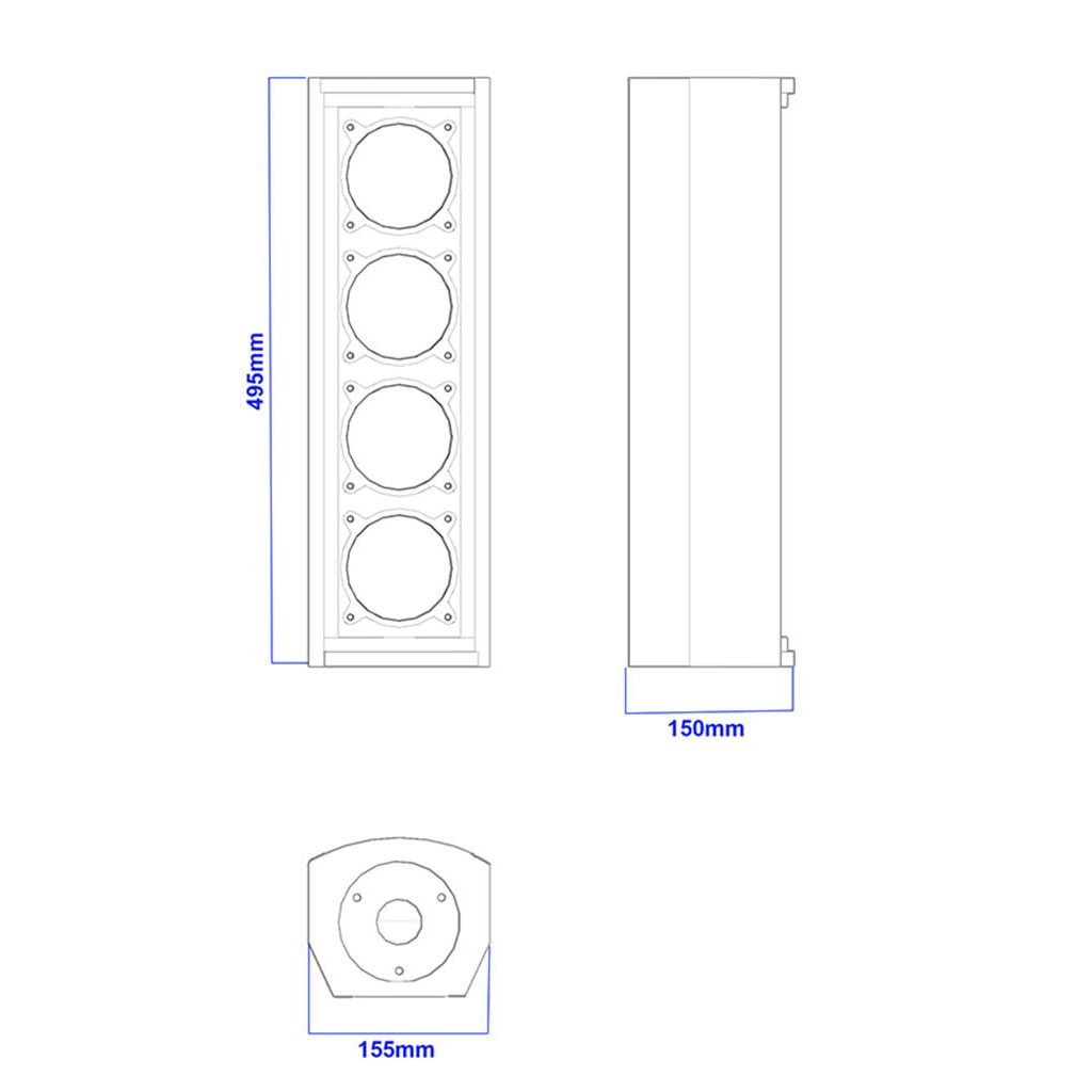 Apt CL4.4 Column array speakers - 495, 150, 155mm