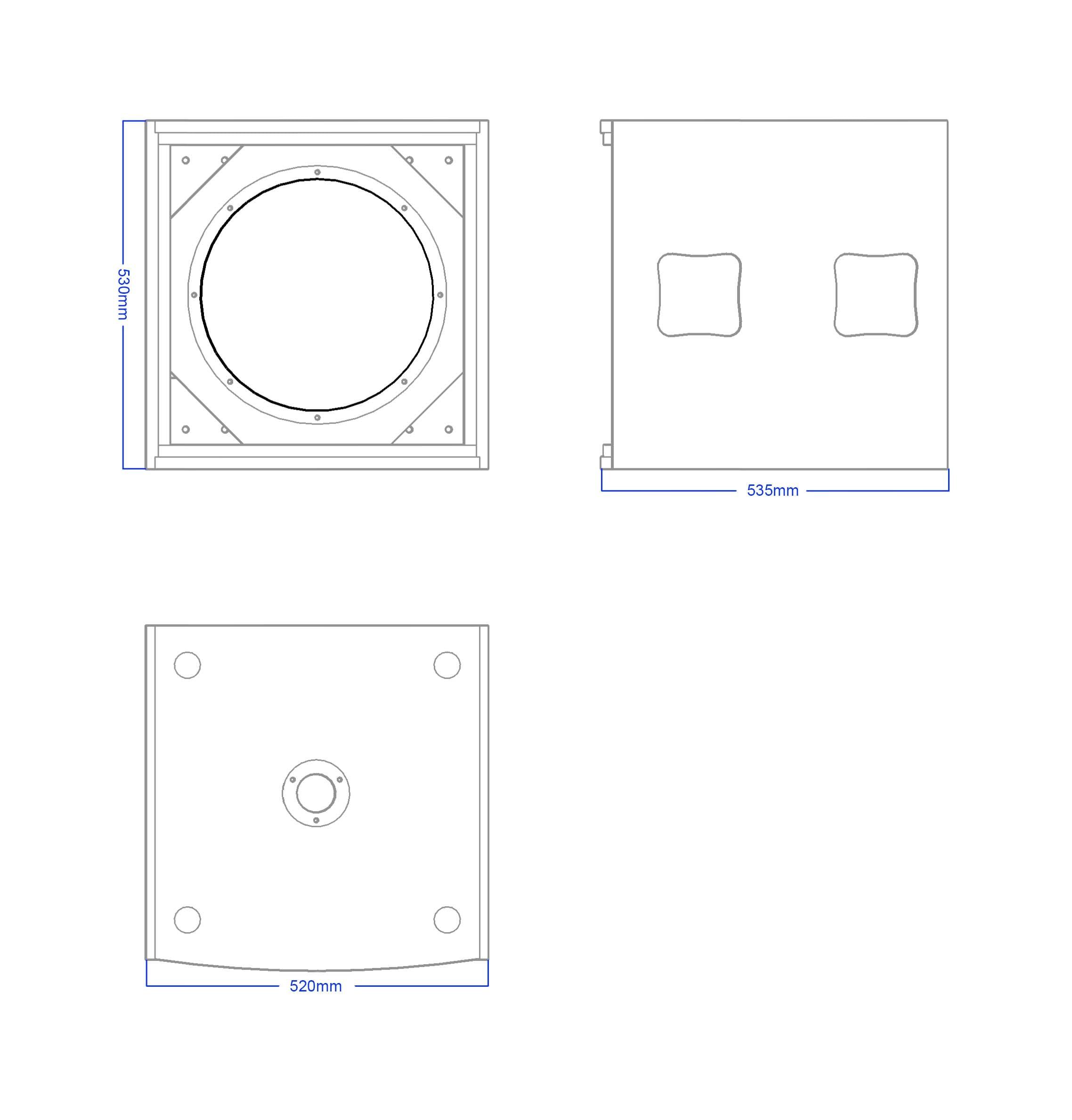 Apt SC15.1 Sub cabinet - 530, 535, 520mm