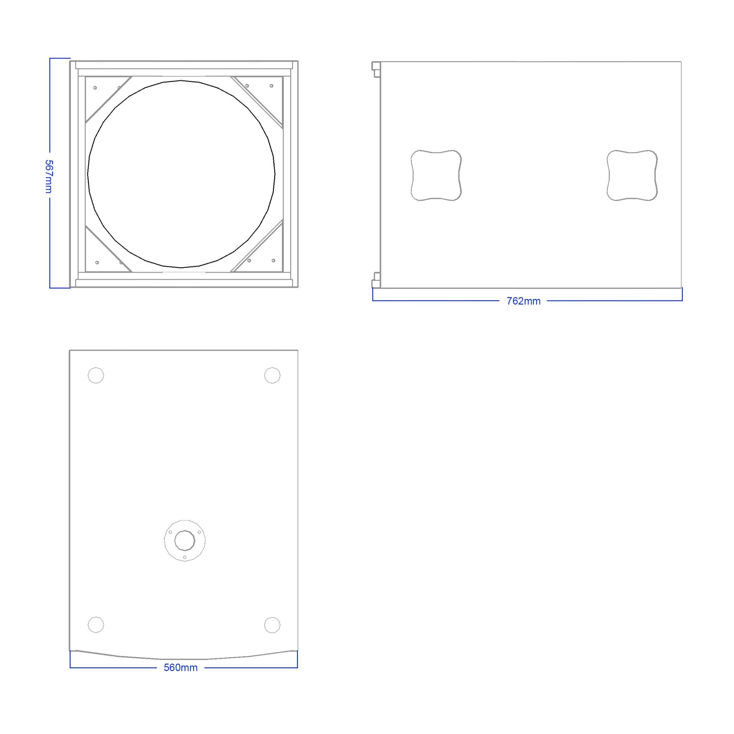 Apt SC 18.1 Sub cabinet - 567, 762, 560mm