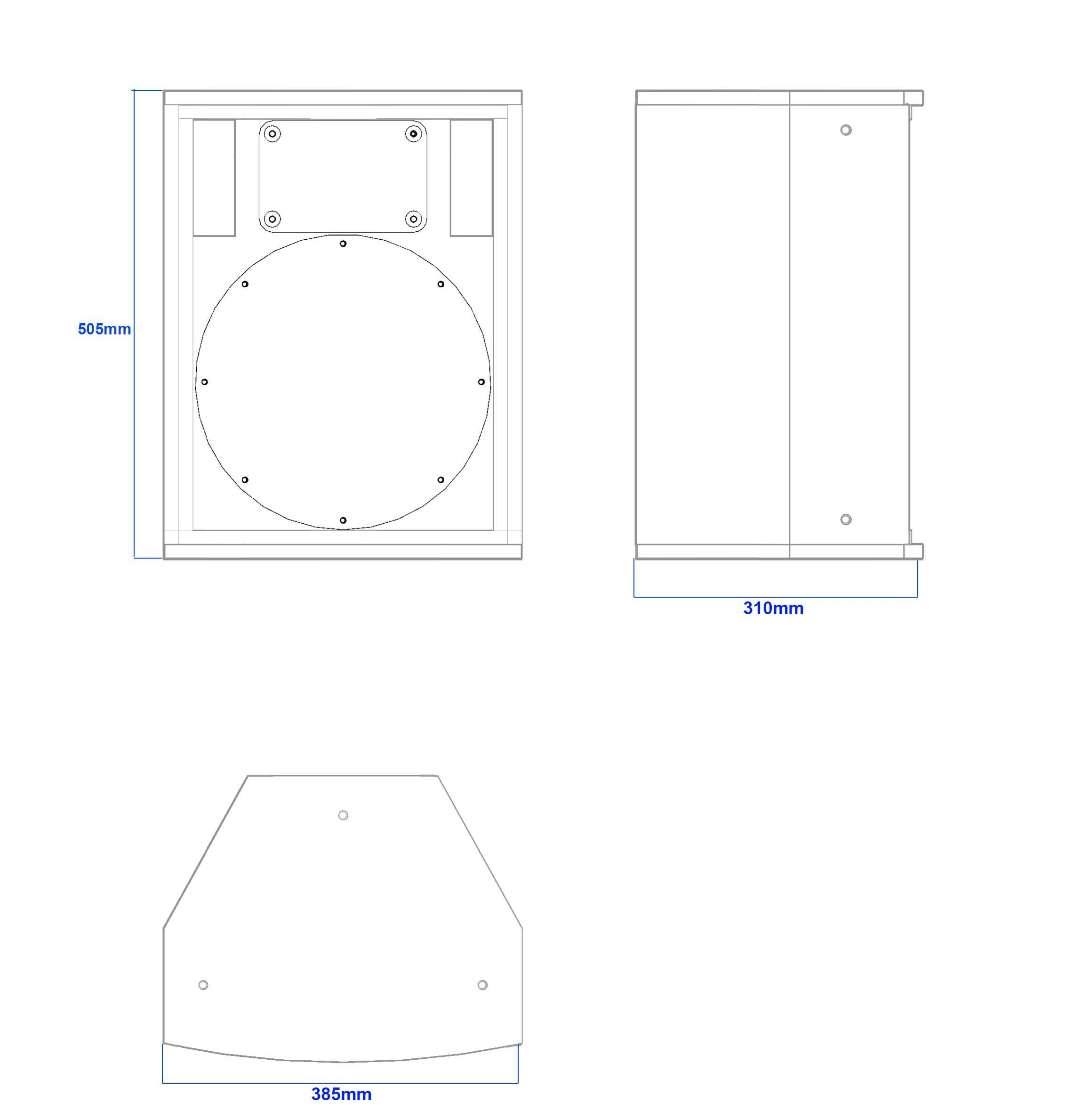 Apt-TCH12 Multipurpose 12″ cabinet - 505, 310, 385mm