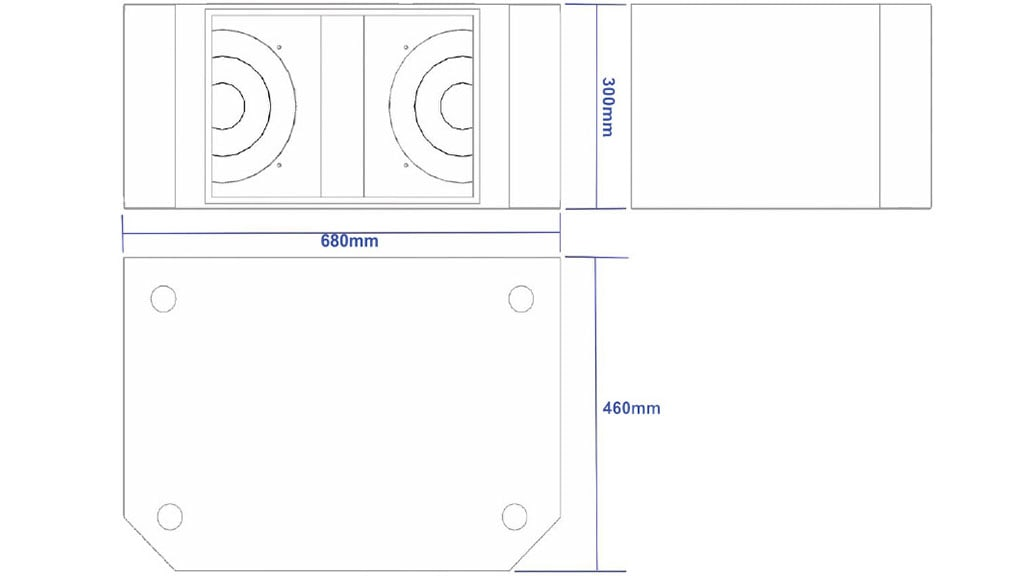 Apt SC10.2 Sub cabinet - 300, 680,460mm
