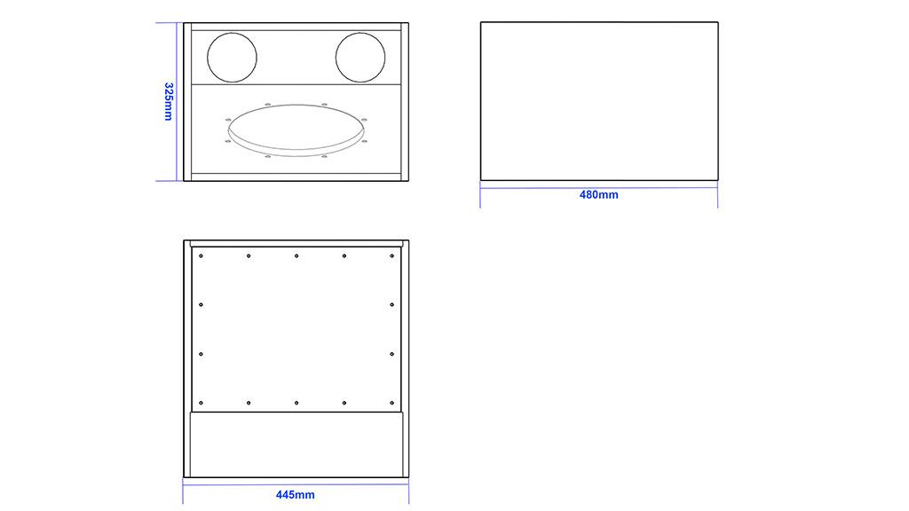 Apt SC12.1 Sub cabinet - 428, 440, 470mm
