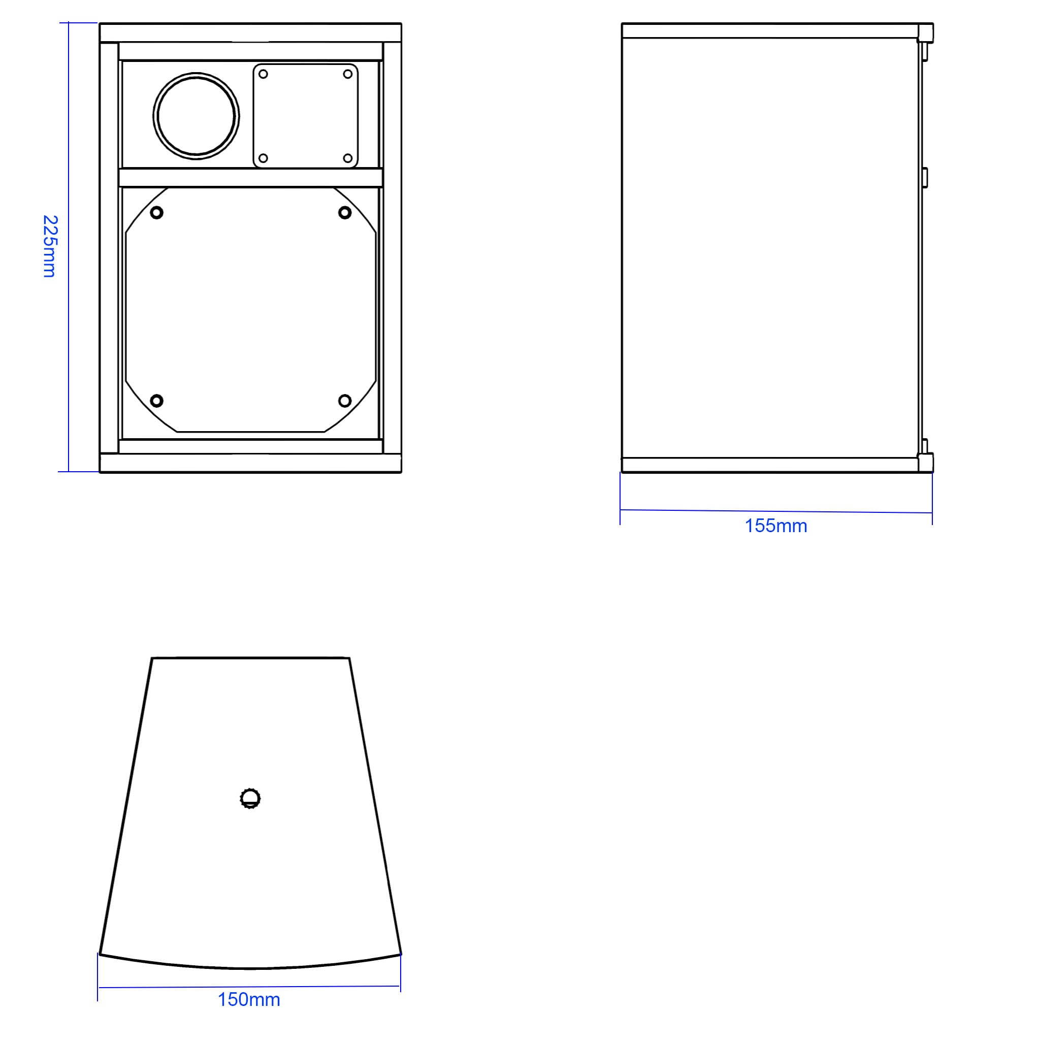 Apt CLF511 Ultra compact full range 5″ cabinet - 225, 150, 155mm