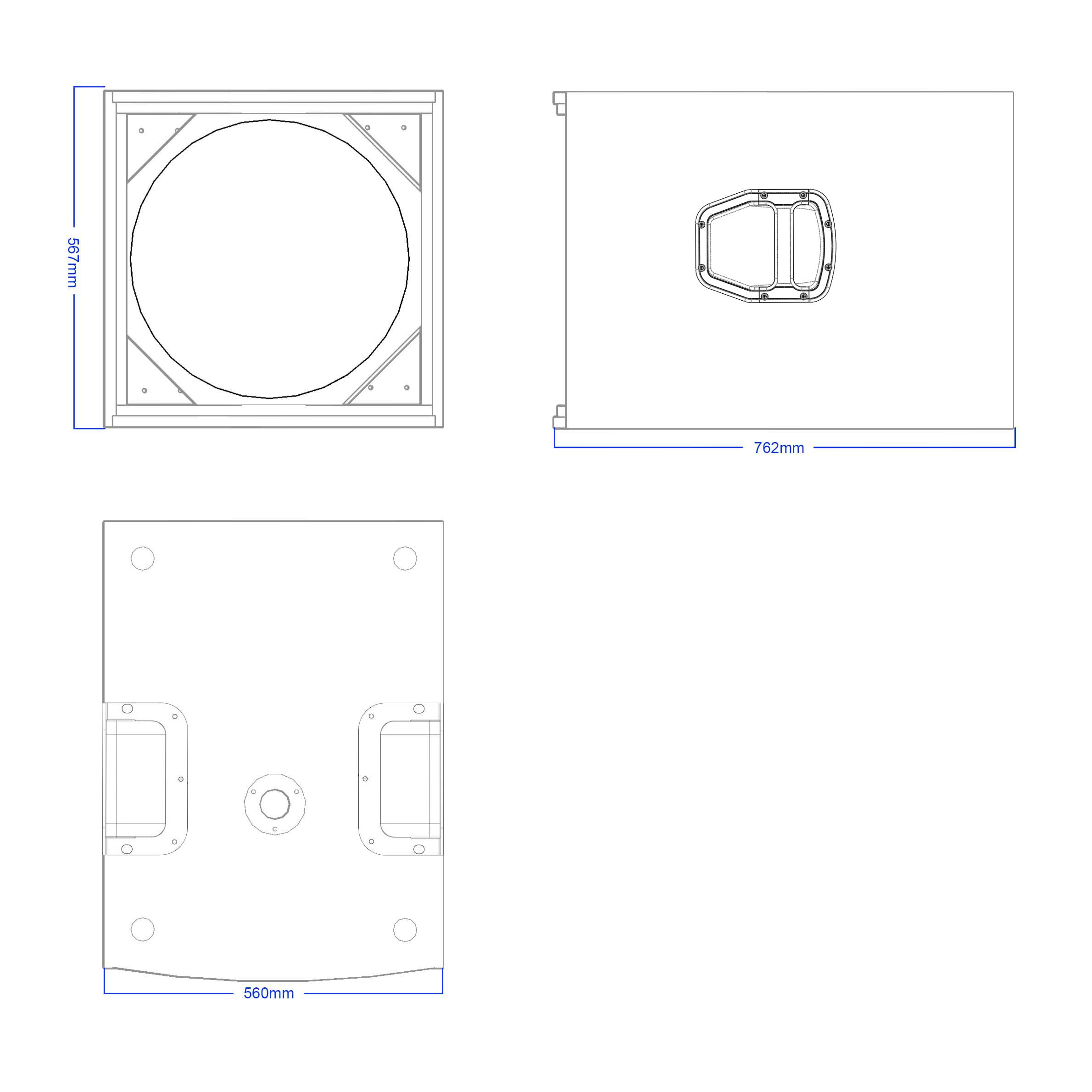 Apt SC 18.1MK2 Sub cabinet - 567, 762, 560mm