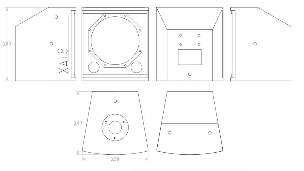 Xail 8 Compact Coaxial Cabinet -