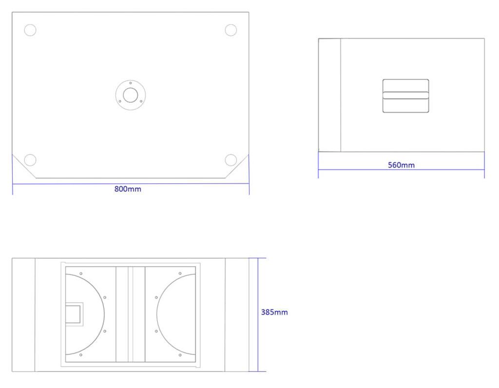 Apt SC12.2 Sub cabinet - 385, 800, 560mm