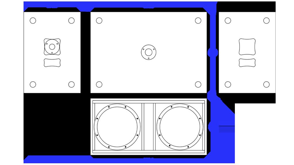 Apt SC212 Active Sub cabinet - 390, 800, 560mm