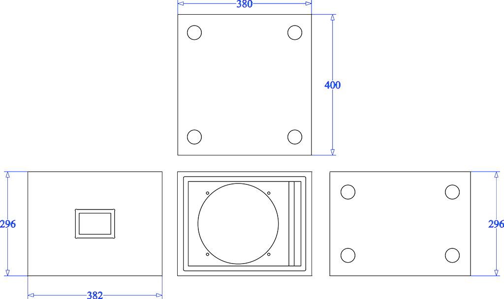 Apt SC110 Sub Cabinet - 300mm (H) x 384mm (W) x 420mm (D)