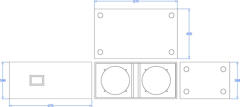 Apt SC210 Sub cabinet - 300, 680,460mm