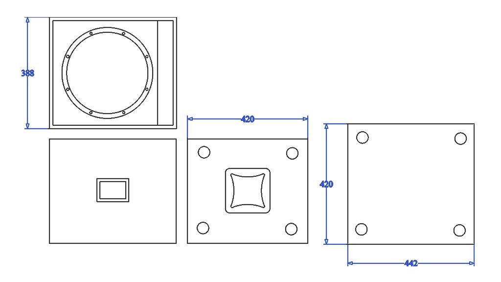 Apt SC12 Sub cabinet - 428, 440, 470mm